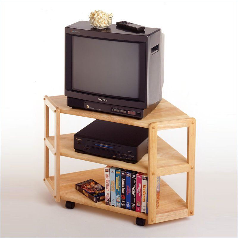 Basics Solid Wood Corner Tv Stand In Beech 83423 Lowest Price Online On All
