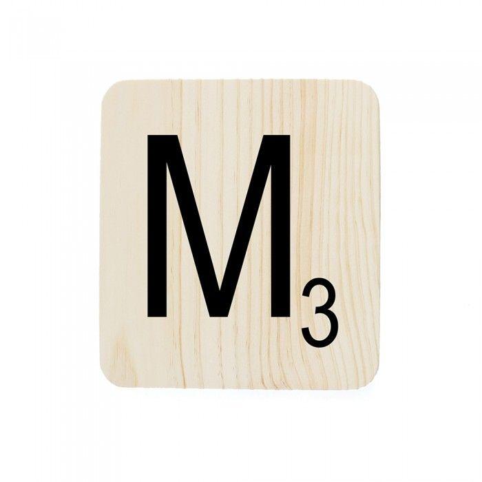 LETRA MADERA M 18X20