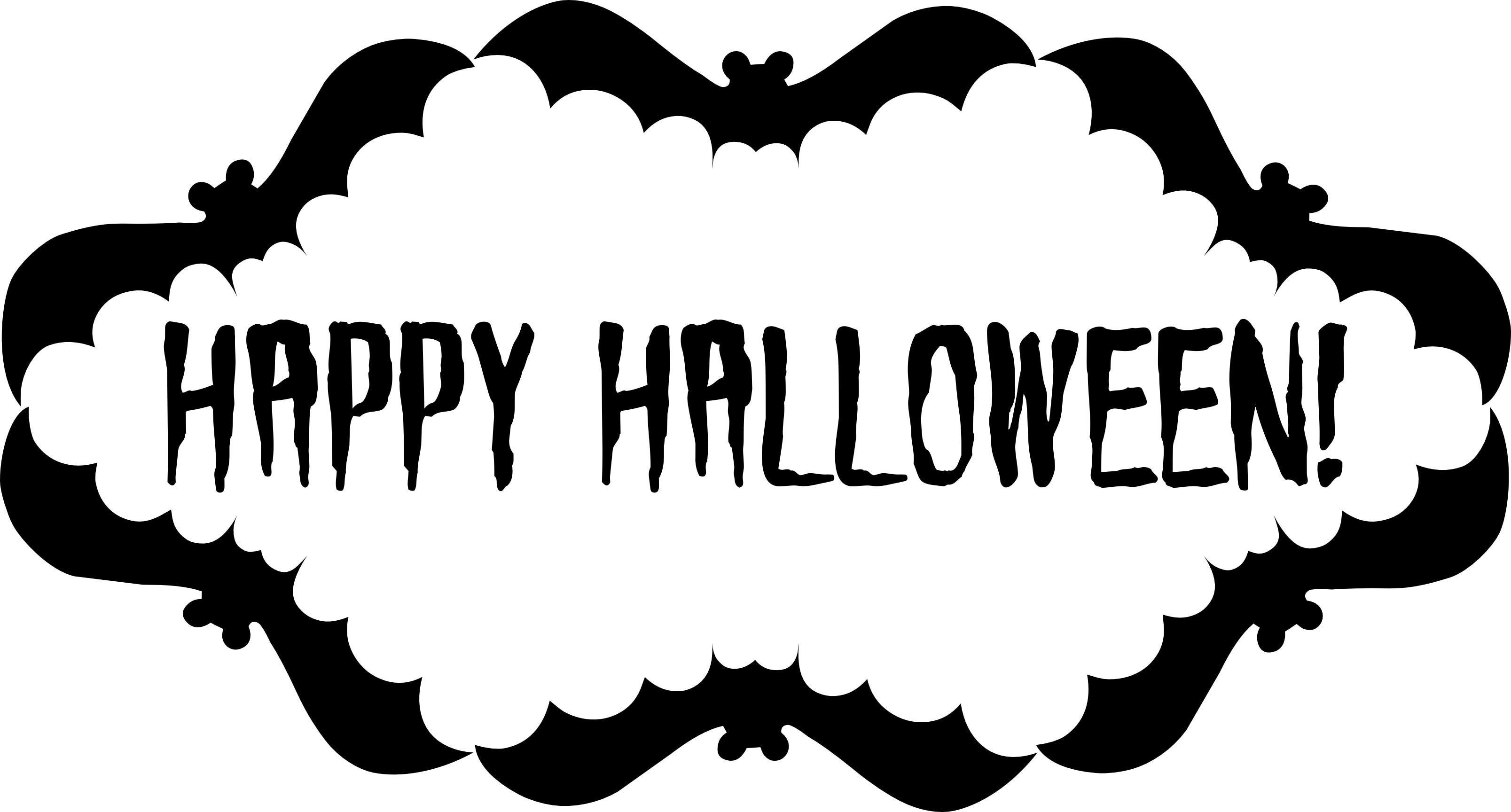 Free Halloween Printables  Happy Halloween Signs Printable Free