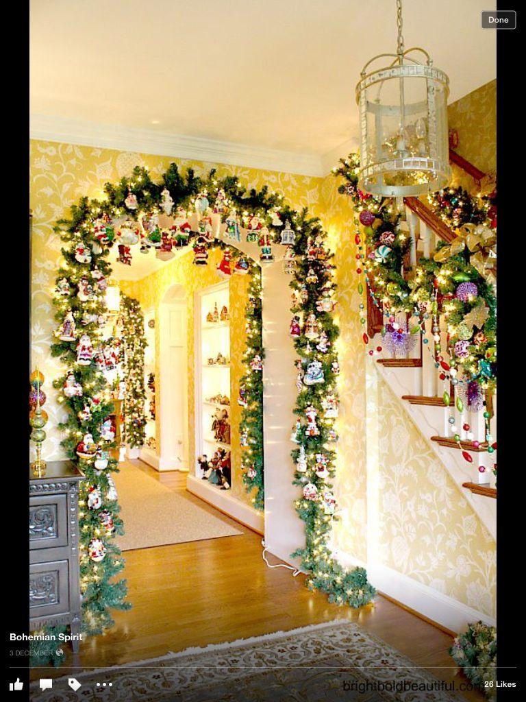 Christmas Doorway Arch | Holiday: Christmas falalalala | Pinterest ...