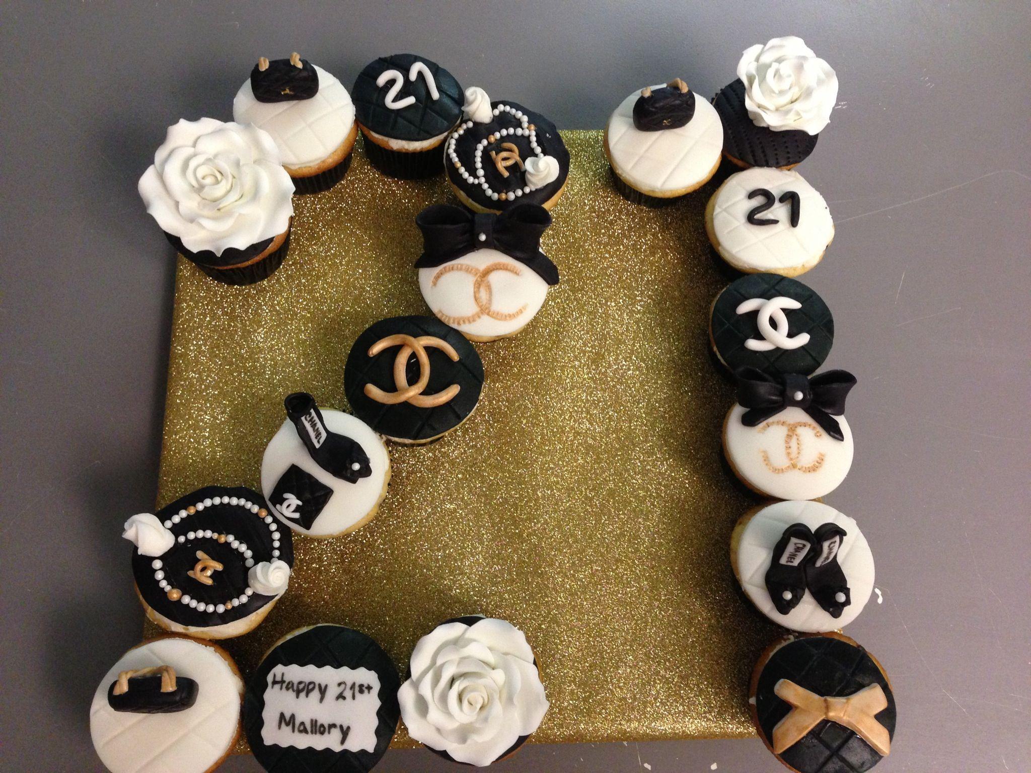 21st Birthday Chanel Cake 21st Birthday Cakes 21st