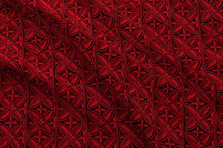 Colorful Fabrics Digitally Printed By Spoonflower Gothic Cathedral Flowers Red Black In 2021 Lace Wallpaper Black Upholstery Fabric Victorian Wallpaper