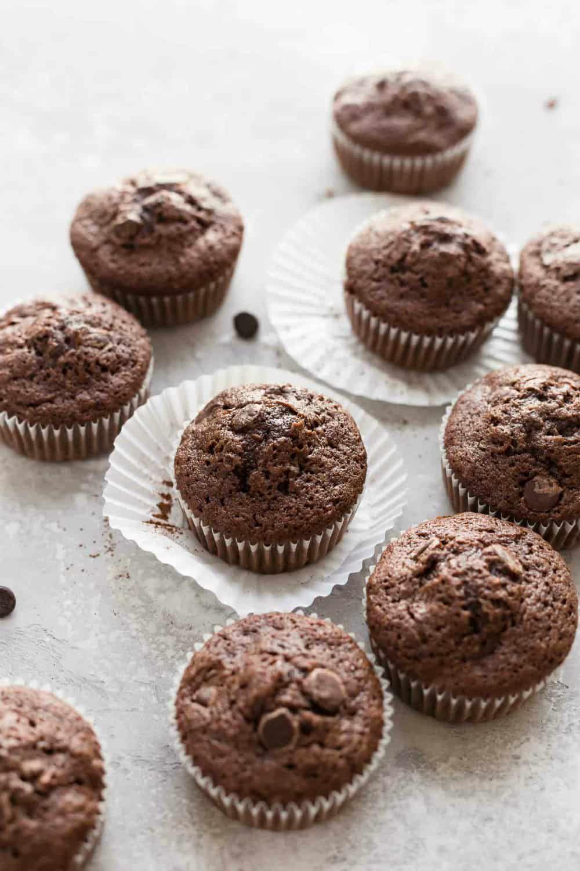 Chocolate Zucchini Muffins Are Rich Delicious And Loaded With Flavor And Chocolate Zucchini Muffins Double Chocolate Zucchini Muffins Baking Chocolate Recipes