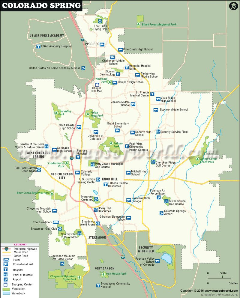 Colorado Springs Map