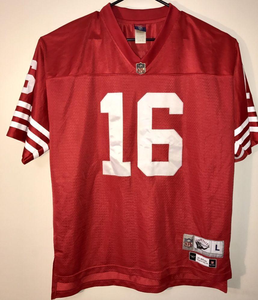 Joe Montana San Francisco 49ers Reebok NFL Football Stitched Jersey Mens Size L #Reebok #SanFrancisco49ers