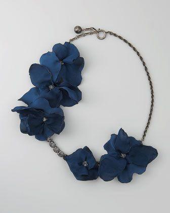 """Short Petal Necklace, 24""""L by Lanvin"""