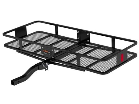 Trailer Hitch Luggage Rack Captivating Curt 18153 2 Piece Large Basket Cargo Carrier With Folding Shank 2018