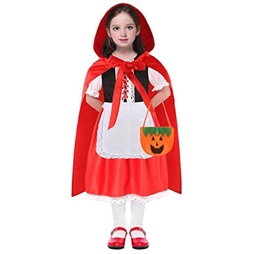 Halloween 2020 Little Red Riding Hood Costume Little Red Riding Hood Costume for Girls 3T   12 #Clothing Shoes
