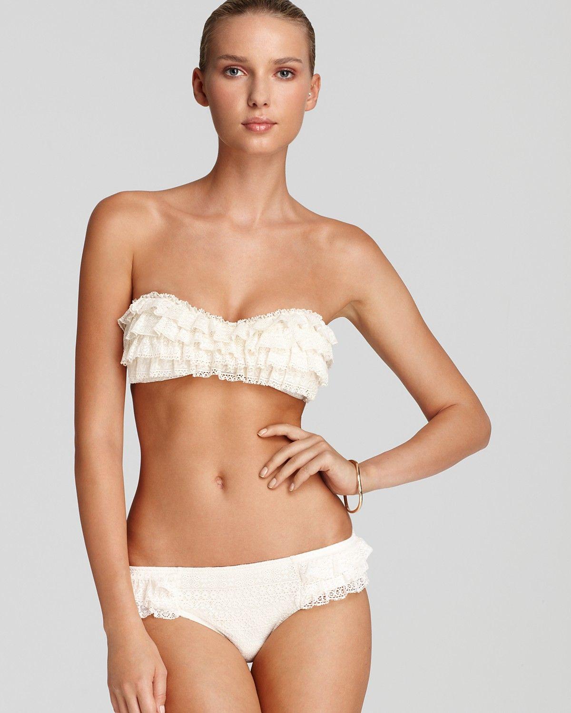 Angel bikini ruffle top