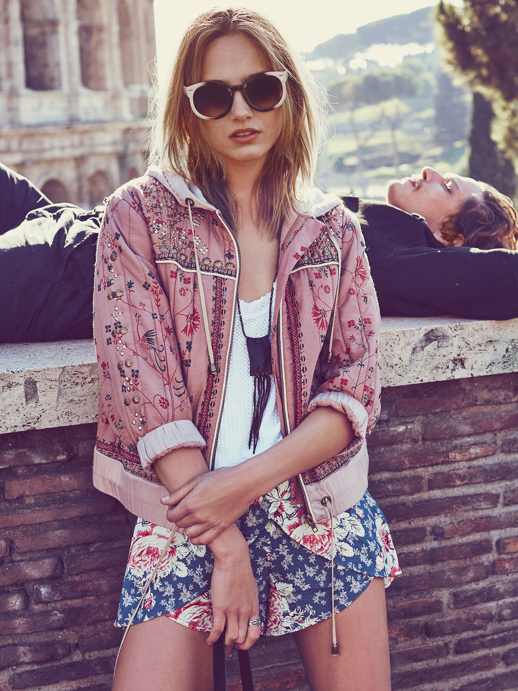 """""""Which is the true nightmare, the horrific dream that you have in your sleep or the dissatisfied reality that awaits you when you awake?"""" ― Justin Alcala - Free People Play My Song Hooded Jacket at Free People Clothing Boutique"""