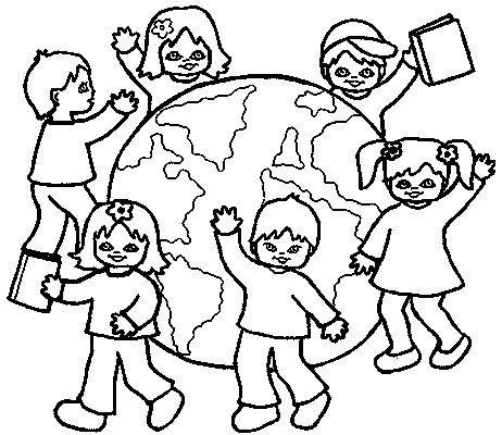 children around the world coloring pages 1 - Coloring Pictures Of Children