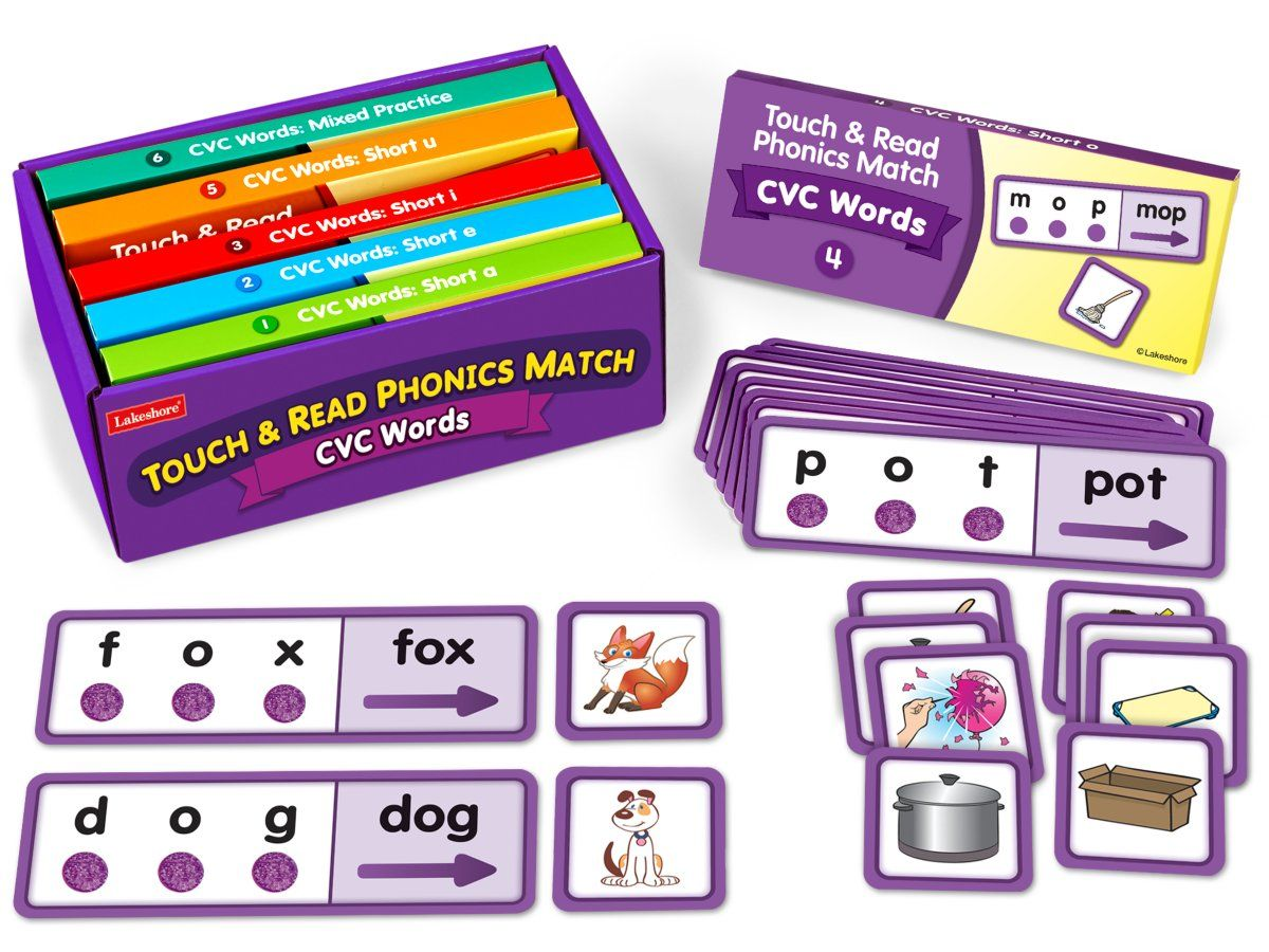 Touch Amp Read Cvc Words Match