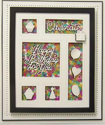 PartiCraft (Participate In Craft): Kaleidoscope Birthday Card