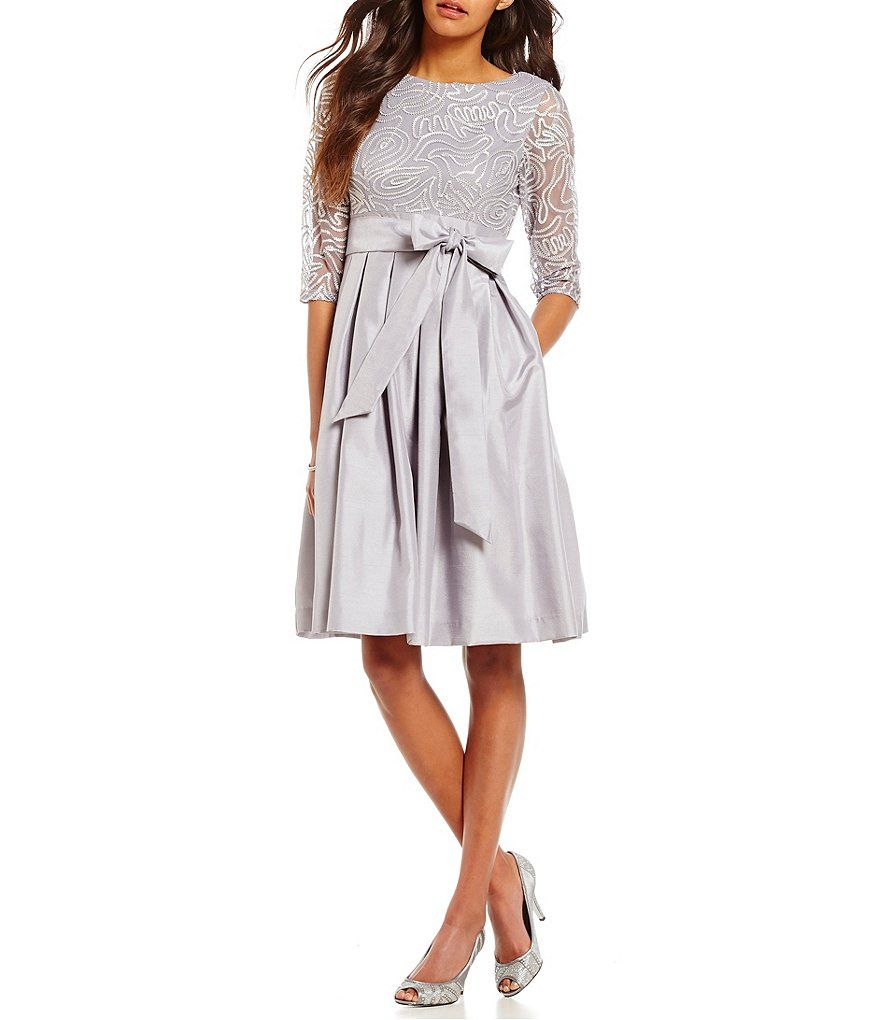 d8b02a7290b Jessica Howard Soutache Taffeta Party Dress