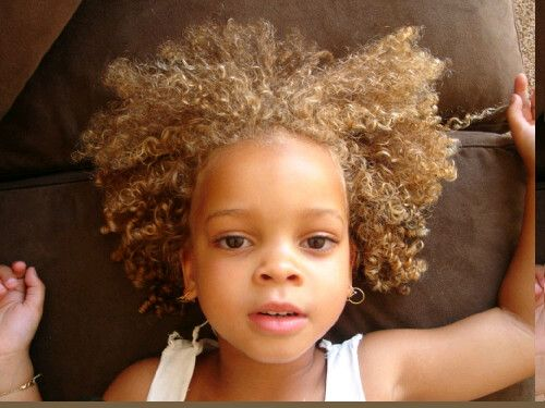 Blonde Ringlets Of Hair On Cafe Colored Skin Natural Hair