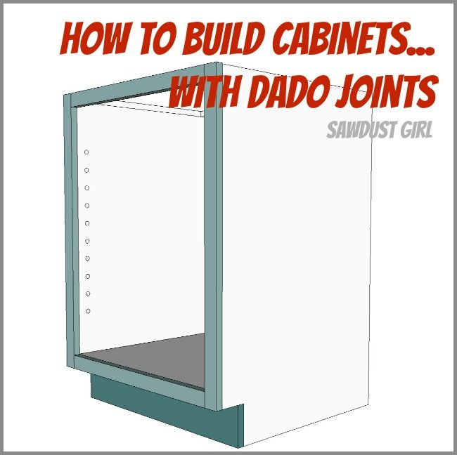 Detailed instructions to build a cabinet using dado joints from ...