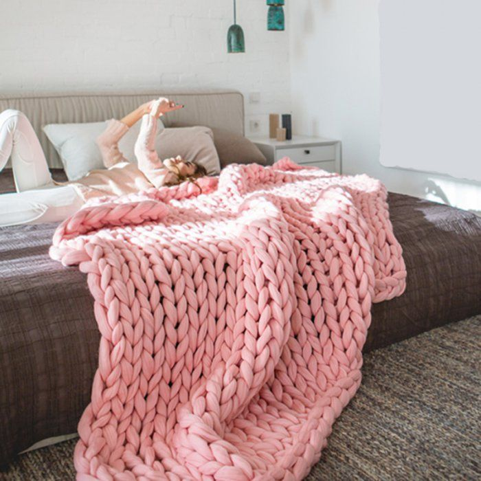 tendance tricot les plaids xxl tricot pinterest tricot knitting and chunky blanket. Black Bedroom Furniture Sets. Home Design Ideas