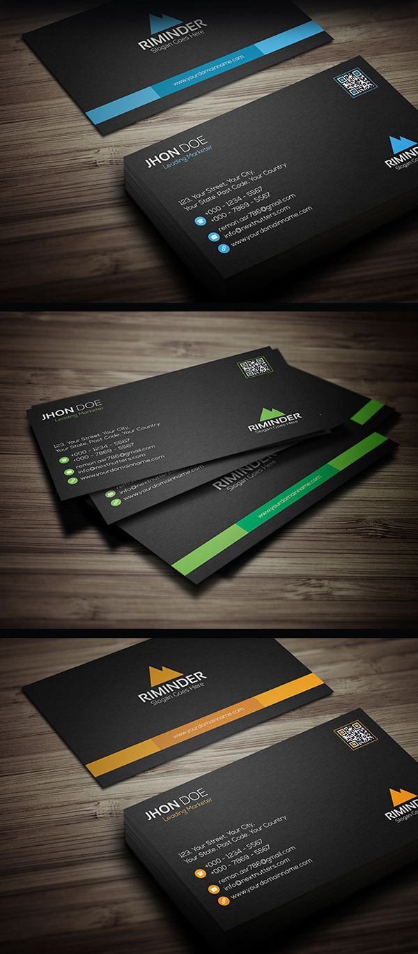 Premium Business Card Template | Style | Pinterest | Premium ...