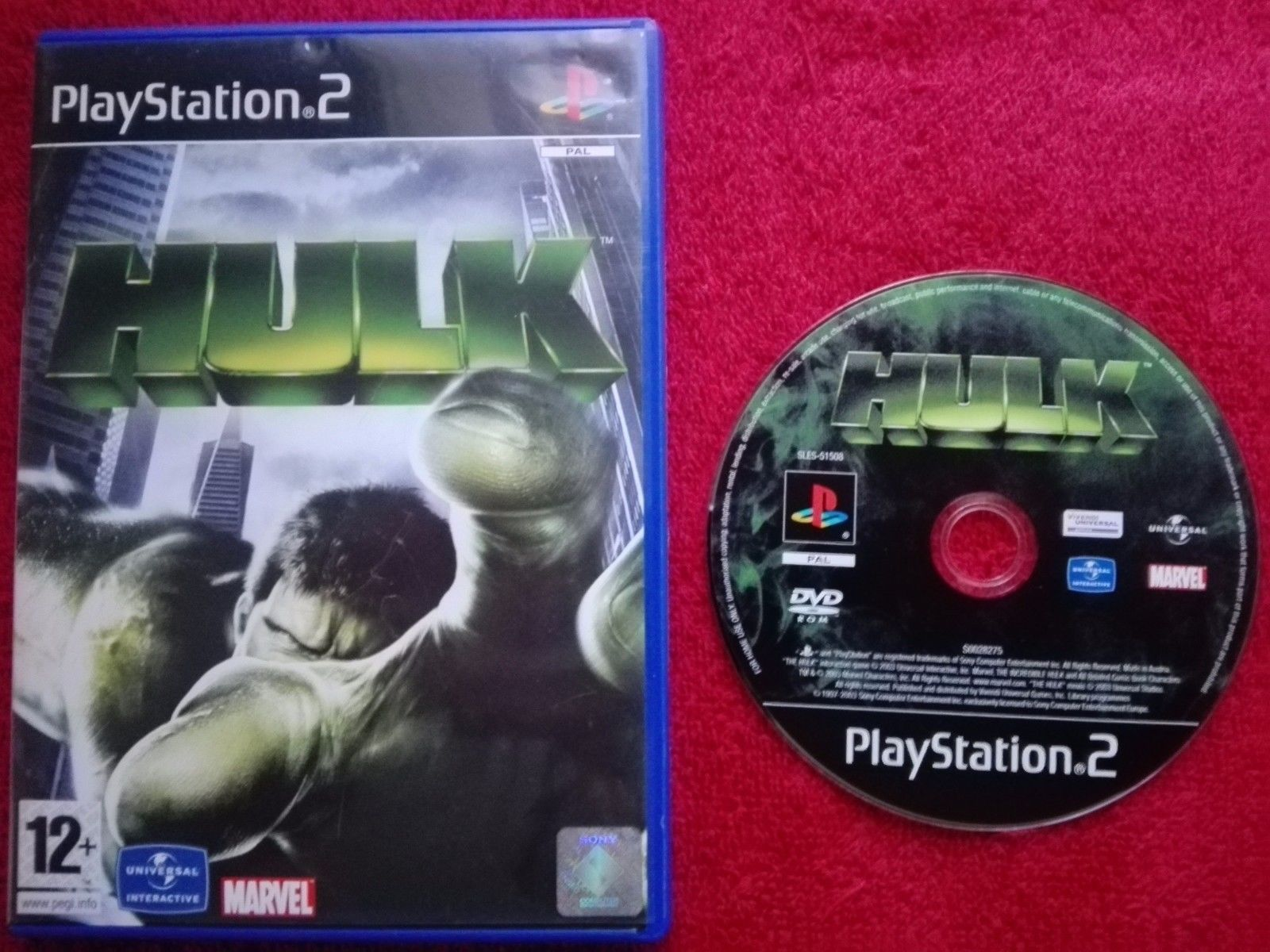 The hulk disc and case #original black #label sony #playstation 2 ...