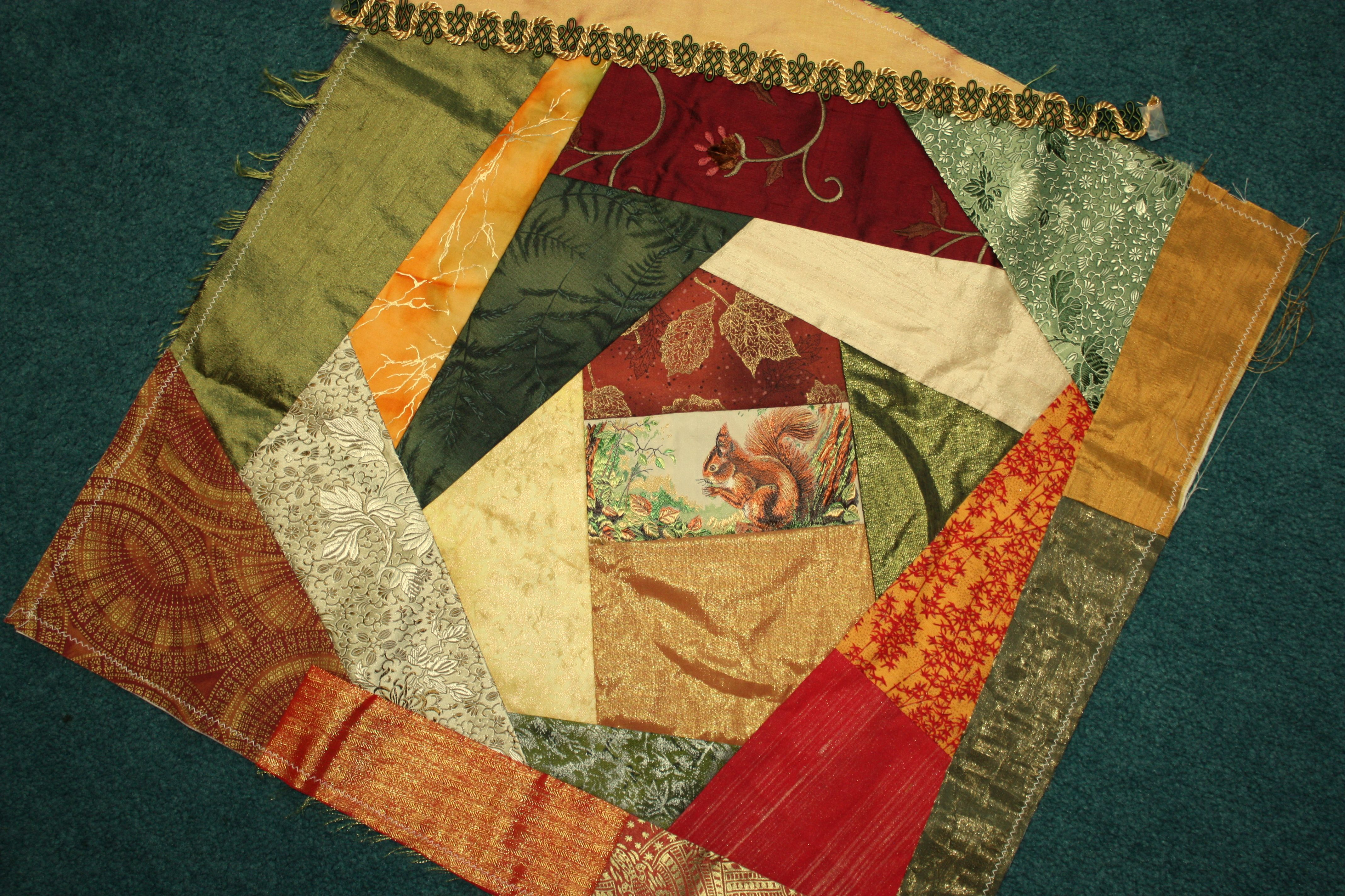 Sophisticated Crazy Quilt Pattern Beginner Quilt Pattern