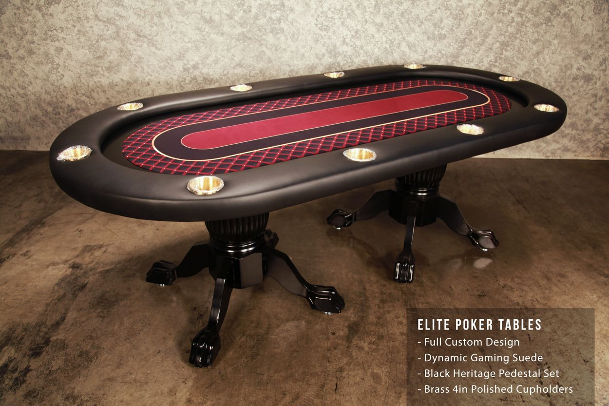 Elite Poker Table Is A 10 Person Poker Table Everyone Loves This Poker Table Because It Has A Continuous Arm Rest The Custo Poker Table Table Custom Graphics