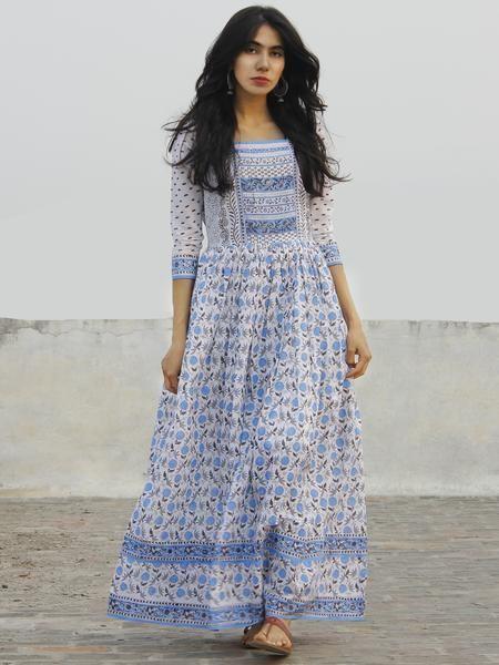 Authentic Hand Block Printed Designer Dresses Sarees Ttas In Natural Vegetable Colors At Indubindu 100 Cod Easy