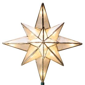 GE 10-in Capiz Lighted Incandescent Capiz Star Christmas Tree ...