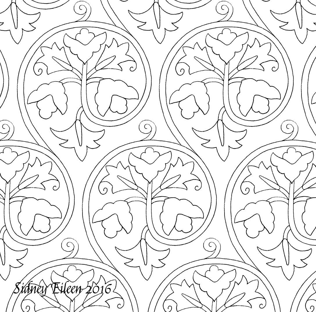 Freehand blackwork embroidery patterns all appropriate for th and