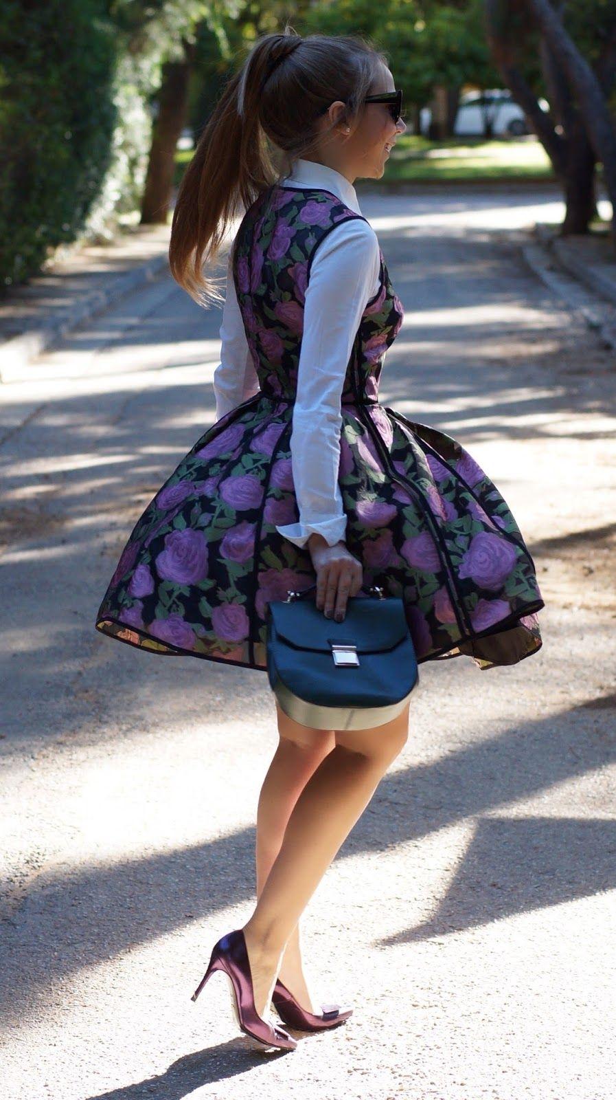 Bold Floral Midi Shirt Dress | Bright on a Budget