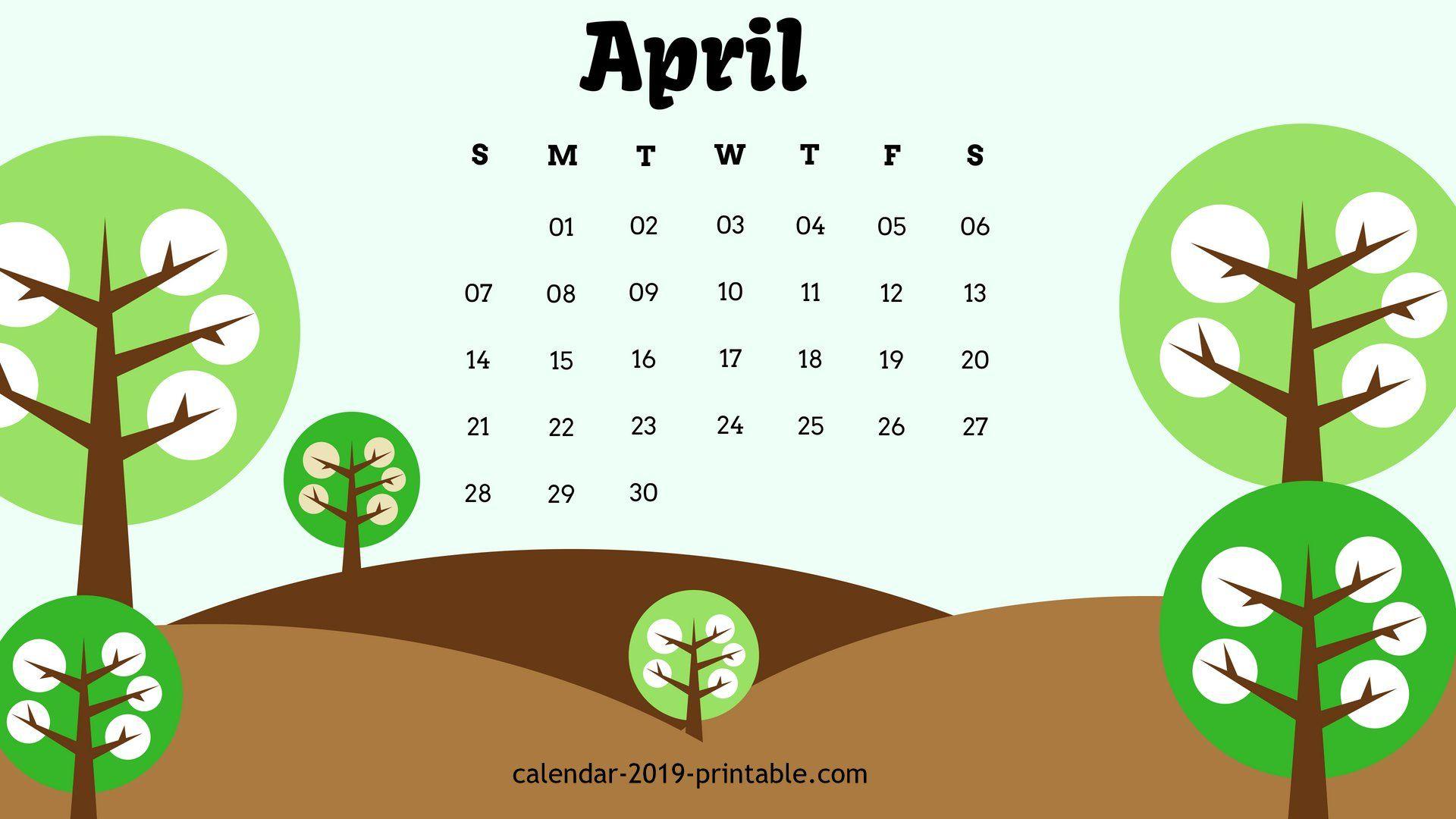 April 2019 Unique Calendar Wallpaper Unique Calendar Calendar Wallpaper Desktop Calendar