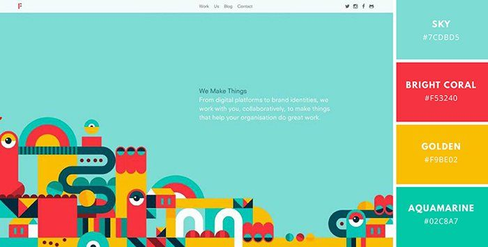 Website Color Schemes The Palettes Of 50 Visually Impactful Websites To Inspire You Design