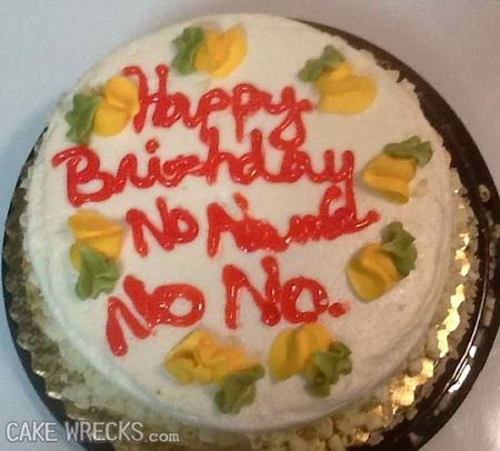 Astonishing Cake Wrecks Home With Images Cake Wrecks Cake Personalised Birthday Cards Paralily Jamesorg