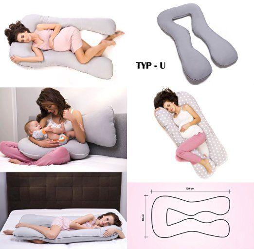 Baby Schwangerschaftskissen U-Stillkissen Lagerungskissen Seitenschläferkissen E
