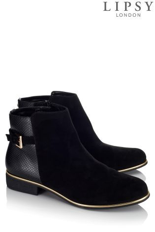 Lipsy Buckle Detail Ankle Boots | Boots