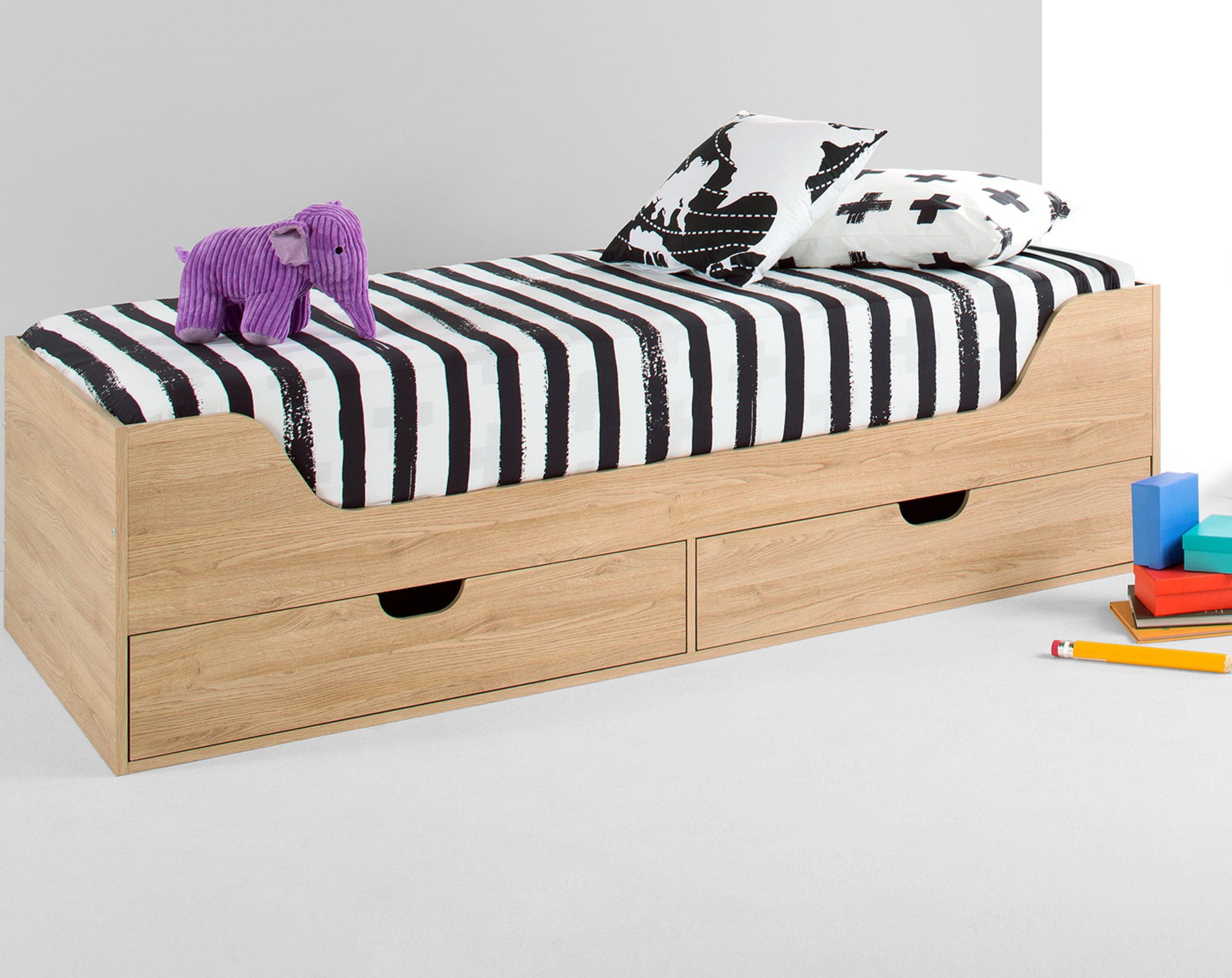Harris Cabin Bed, Washed Oak Effect Cabin bed, Single