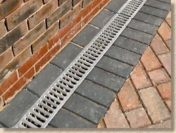 Typical Residential Grade Linear Channel Drainage