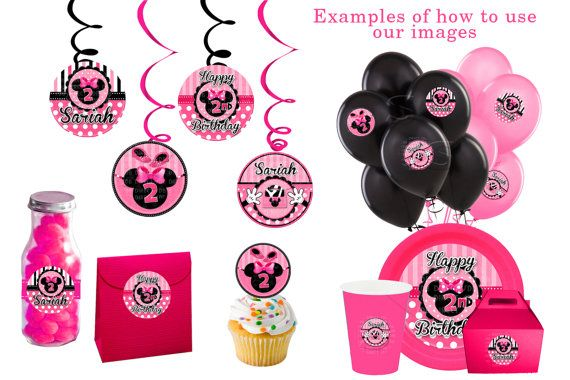 Minnie Mouse Party Minnie Mouse Birthday Baby shower Decorations