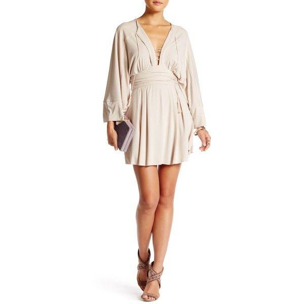 1e202e78f85f Free People Modern Kimono Mini Dress (€63) ❤ liked on Polyvore featuring  dresses