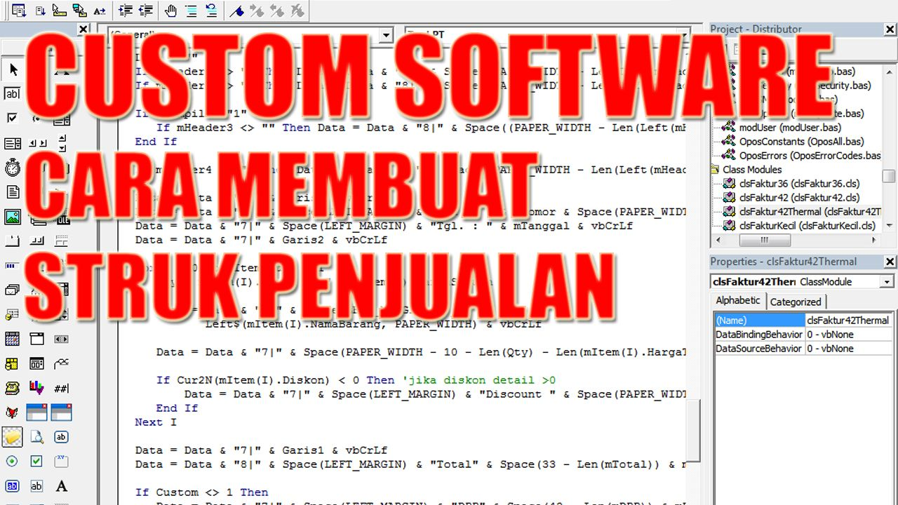 Custom Software Cara Membuat Struk Penjualan Custom Software Cara