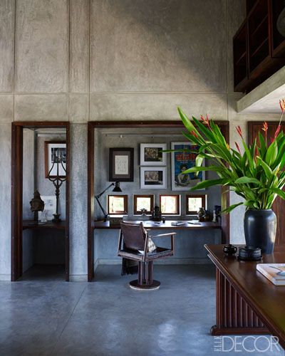 A Modern Retreat In India | Thrift, Modern and Elle decor