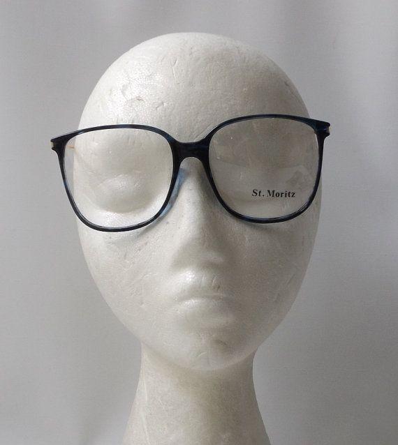 vintage 1980 s NOS eyeglasses oversized round blue marble plastic ... 6c2faae571