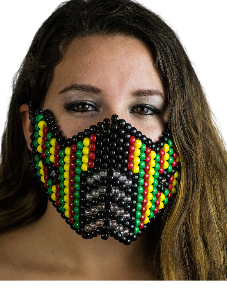 Rasta Mortal Kombat Kandi Mask