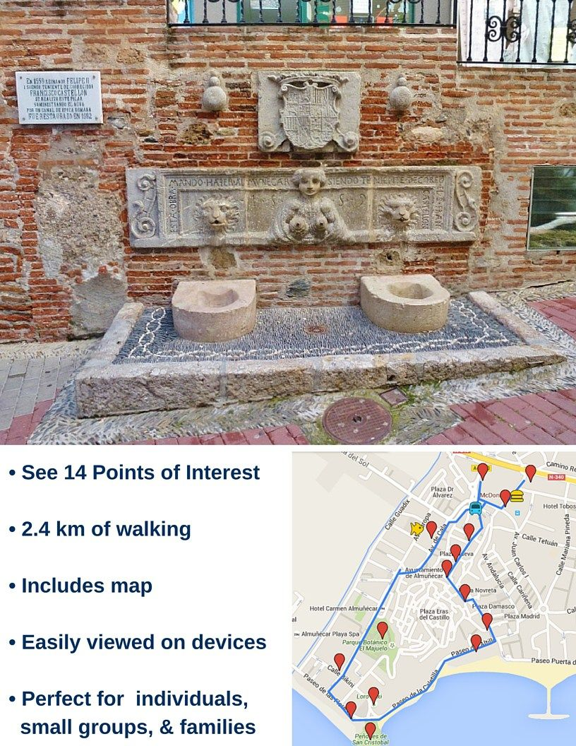 Almunecar Spain Map.Almunecar Walking Guides The Welcome Walk Will Take You On A