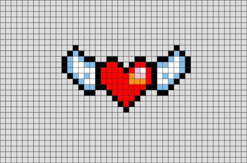 Winged Heart Pixel Art Pixel Art Pixel Art Templates