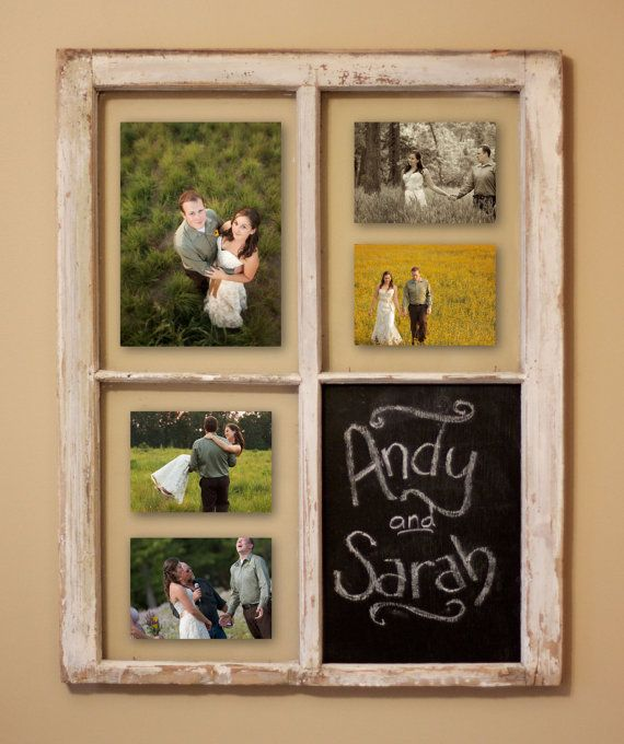 Rustic Window Picture Frame Picture Frame By Grindstonedesign Window Frame Picture Rustic Window Frame Crafts