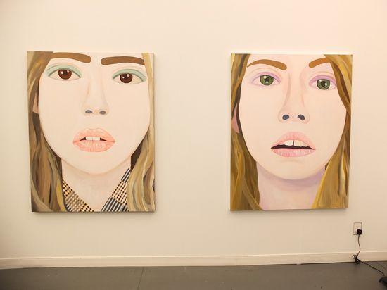 Brian Calvin  Memory of a Sister (Eva), 2012                    Memory of a Sister (Con), 2012