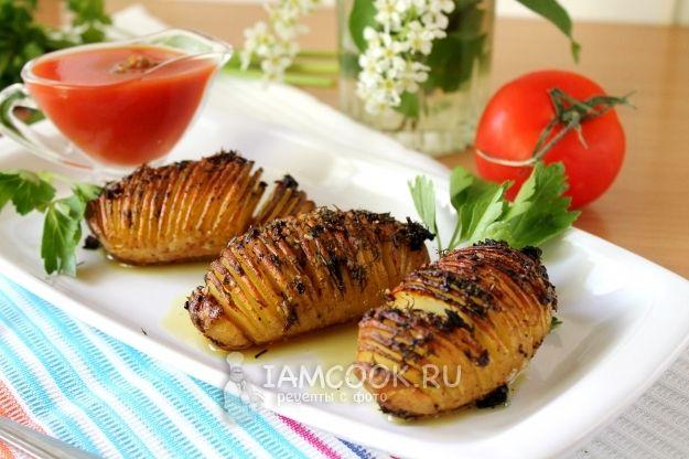 Картошка-гармошка с чесноком и ...