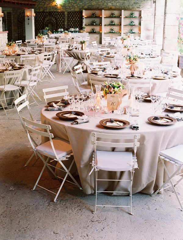 Round table setting for inspiration french countryside wedding & french countryside wedding | Wedding Planning | Pinterest ...