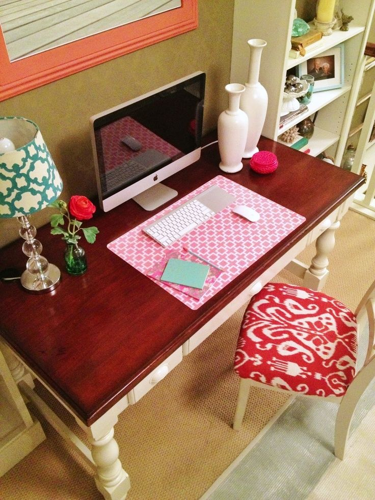 girly office #home #decor