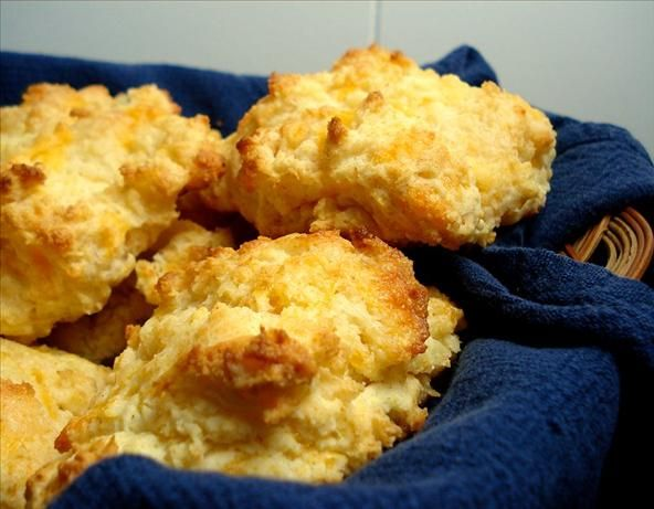 Cheese And Garlic Drop Biscuits Recipe Breads Pinterest